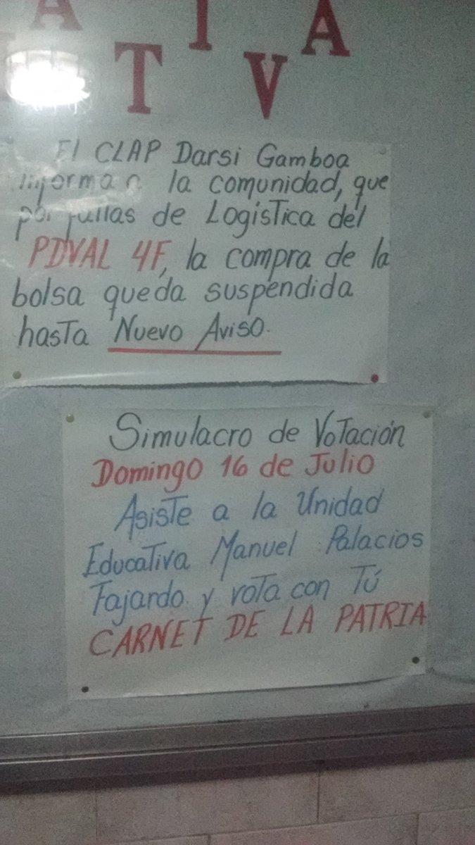 Foto: En el 23 de enero llaman al participar en el simulacro del CNE con el carnet de la patria  /  Jackson Gonzalez