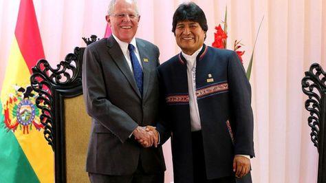 El presidente Boliviano junto a su par de Perú.