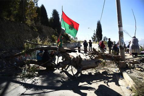 Uno de los puntos bloqueados por la Fejuve el pasado 13 de junio. Foto: La Razón