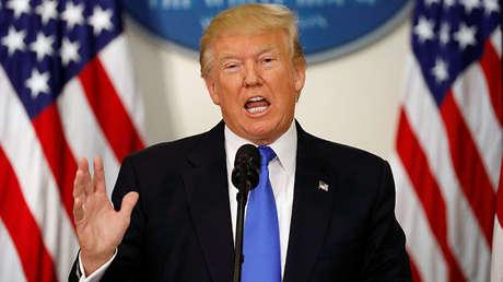 El presidente de EE.UU., Donald Trump, en la Casa Blanca (Washington), el 19 de julio de 2017.