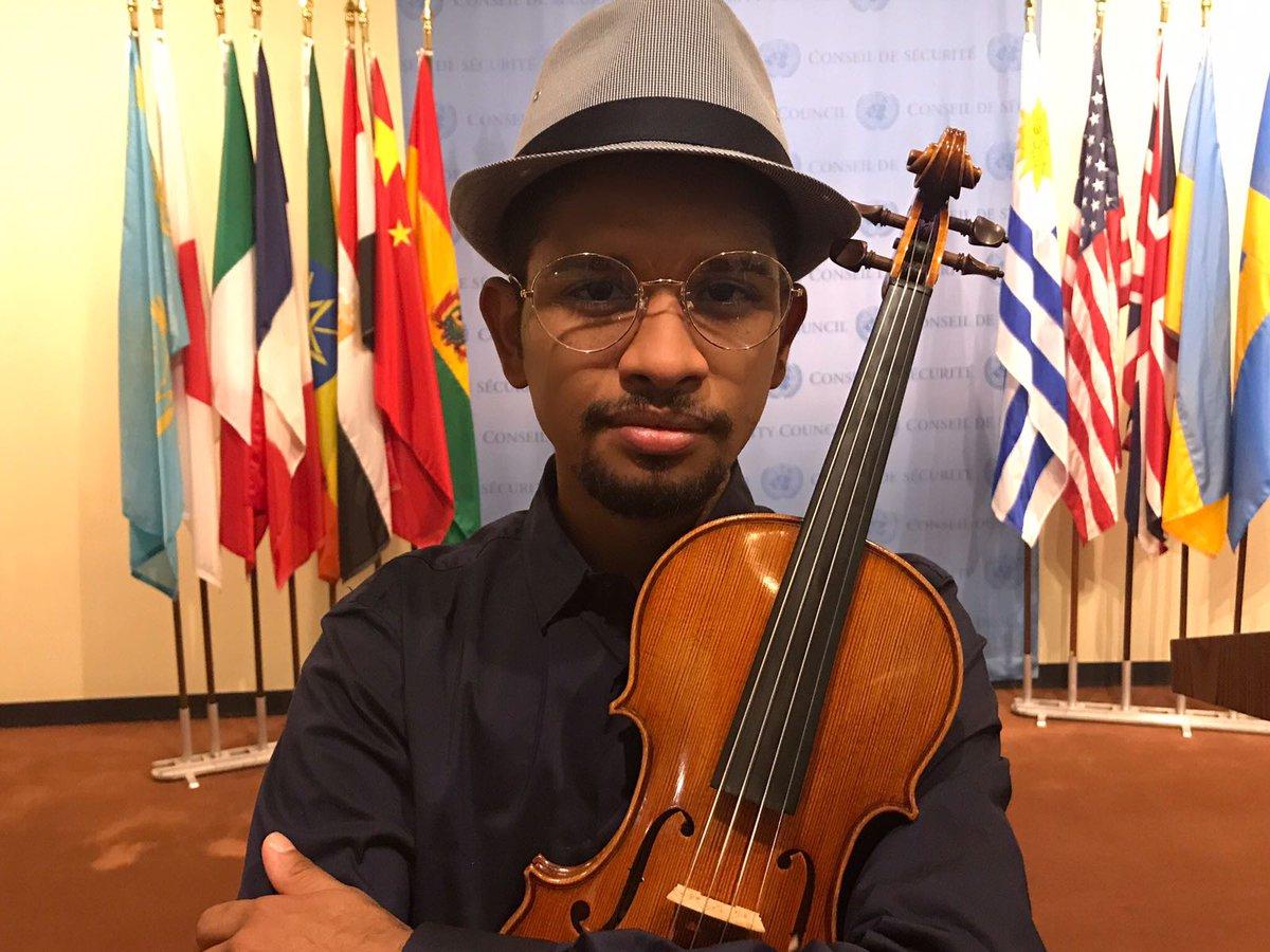 El violinista venezolano Wuilly Arteaga (Foto: @yanileon)
