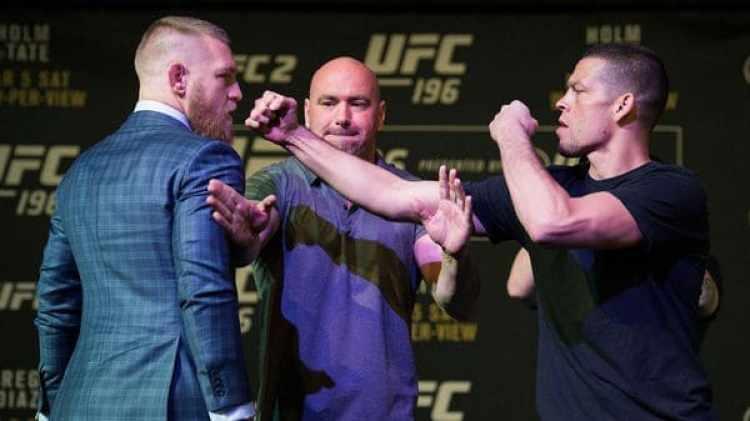 Nate Díaz derrotó a McGregor el UFC 196, disputado en marzo de 2016