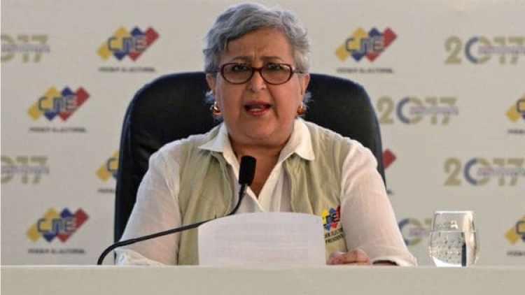 Tibisay Lucena, presidenta del Consejo Nacional Electoral de Venezuela (CNE)