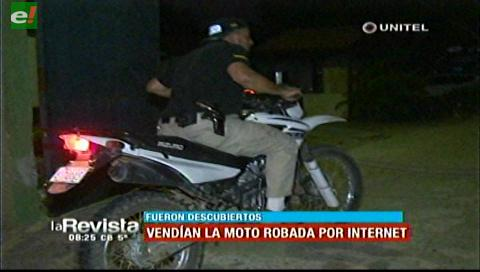 Robaron moto y la vendían por Facebook