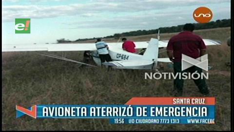 Avioneta aterriza de emergencia en Camiri