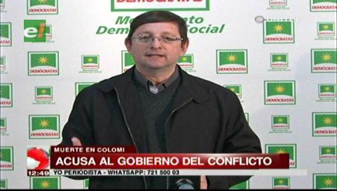 Senador Ortiz acusa al Gobierno de ser el responsable del conflicto cocalero que deja un muerto