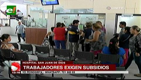 Trabajadores del San Juan suspenderán actividades exigiendo el pago de sus subsidios