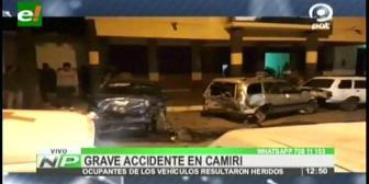Grave accidente de tránsito en Camiri deja varios heridos