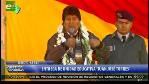 """Evo resalta hazaña de indígenas """"comecuras"""" y """"comecorazones"""" de invasores"""