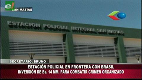 San Matías: Costas inaugura la primera Estación Policial del país en frontera con Brasil