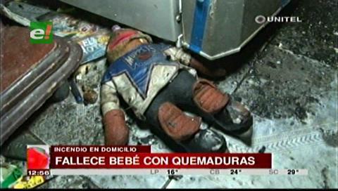Falleció bebé que sufrió graves quemaduras tras un incendio
