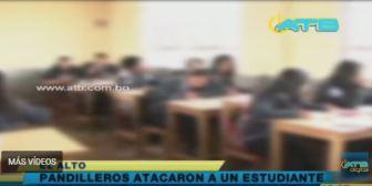 Pandilleros intoxicaron a un joven en El Alto