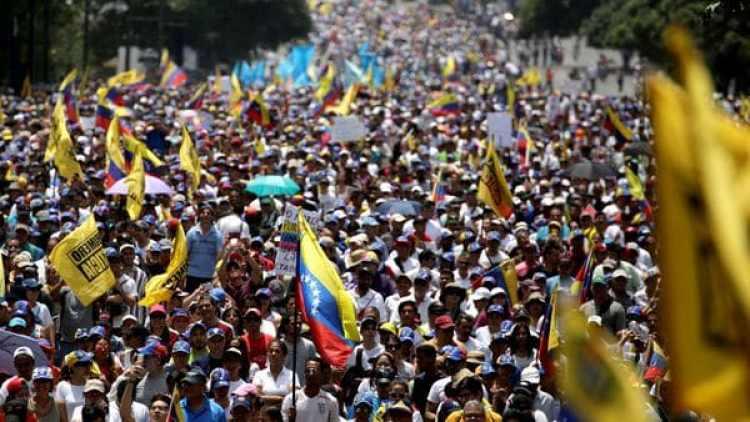 Las protestas contra Maduro son constantes