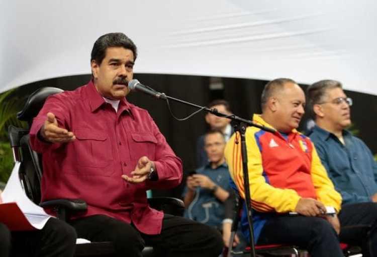 El presidente venezolano Nicolás Maduro durante el encuentro con los constituyentistas este miercoles en Caracas (Reuters)