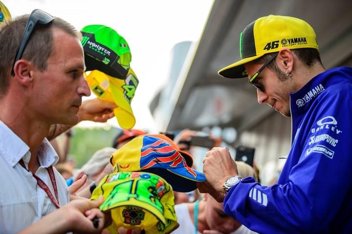 Valentino Rossi está cuarto en el campeonato de Moto GP con 132 unidades