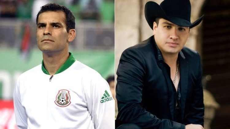Rafa Márquez y el cantante Julión Álvarez, dos de los involucrados en la red