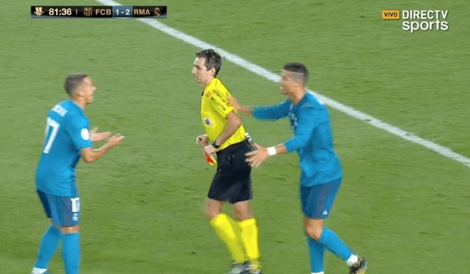 Cristiano Ronaldo es suspendido cinco partidos por agredir a un árbitro