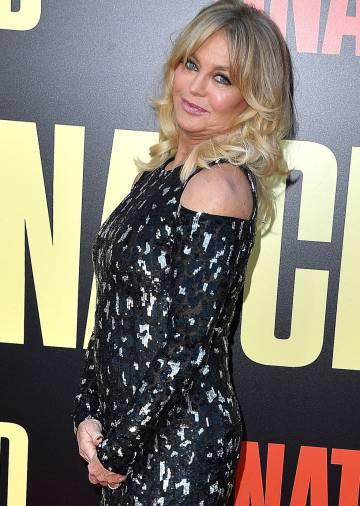 Goldie Hawn, en el estreno de