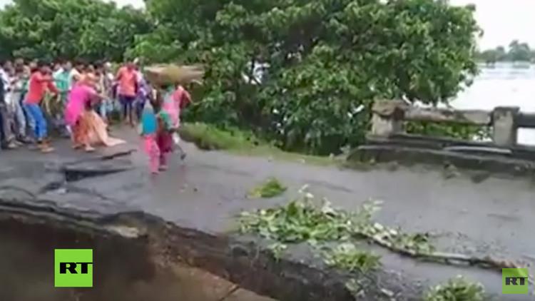 Más de 750 muertos en inundaciones en el sur de Asia