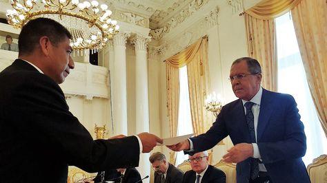 Canciller entrega invitación para que el presidente Vladimir Putin asista a IV Cumbre del Foro de los Países Exportadores de Gas. Foto:Cancillería