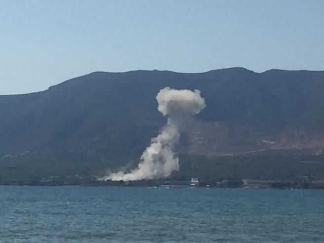 Imagen de la segunda explosión de Alcanar