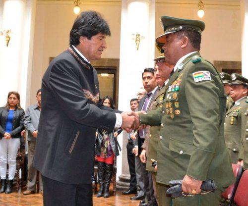 Gobierno ratificó su confianza en el Comandante Nacional de la Policía Boliviana, Abel de la Barra.