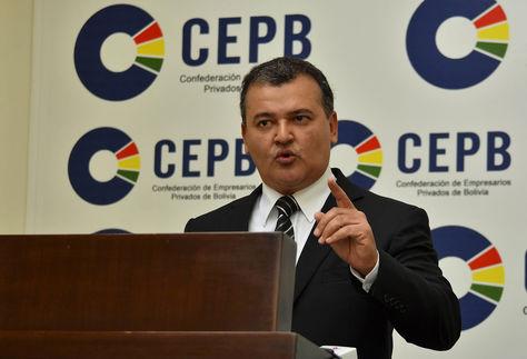 El presidente de la CEPB, Ronald Nostas. Foto: La Razón