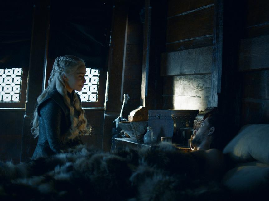Daenerys y Jon en un fotograma de