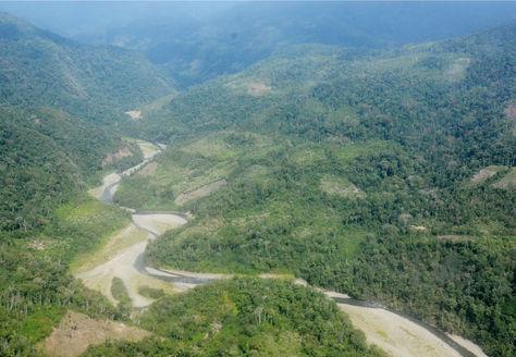 Imagen aérea de parte del Territorio Indígena Parque Nacional Isiboro Sécure (TIPNIS) capturada en julio de 2017. Foto: Archivo