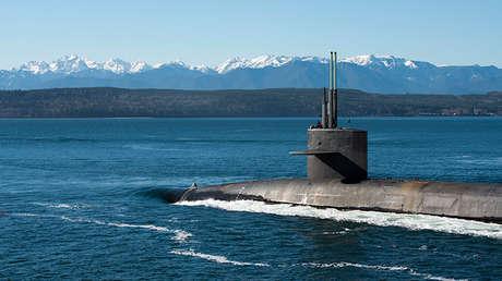 El submarino de misiles balísticos estadounidense USS Henry M. Jackson, el 13 de febrero de 2017.