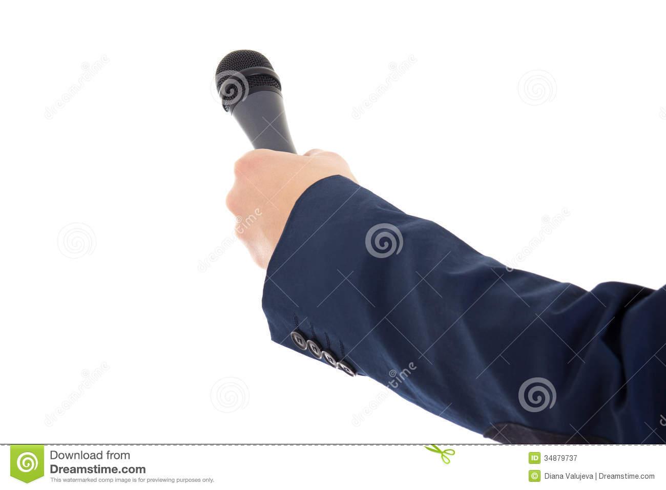 Resultado de imagen de microfono periodista