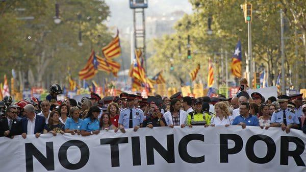Una gran manifestación recorrerá hoy Barcelona contra el terrorismo