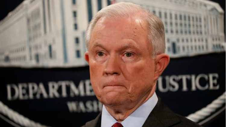 El fiscal general, Jeff Sessions