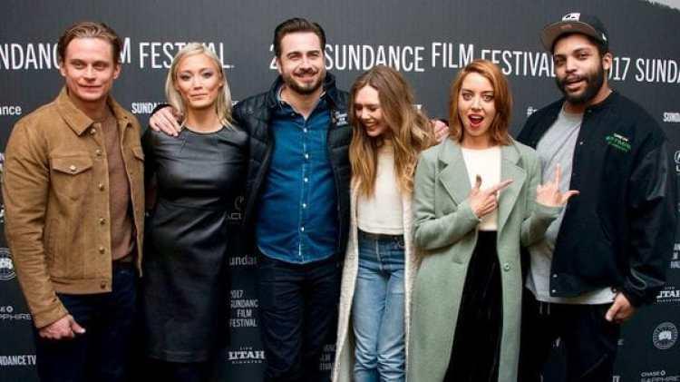 El elenco de Ingrid Goes West durante el festival de Sundance