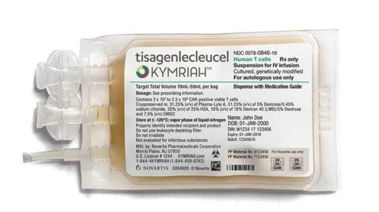 El Kymriah es destinado a niños y adultos jóvenes menores de 25 años que han resistido a otras terapias contra un tipo de leucemia o que han tenido una recaída