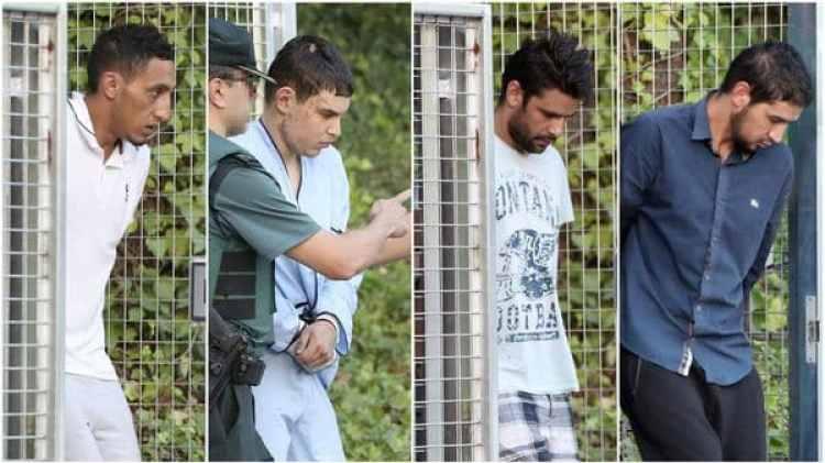 Los cuatro terroristas que fueron capturados vivos (EFE)