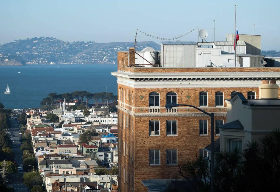 La sede del Consulado ruso en San Francisco.