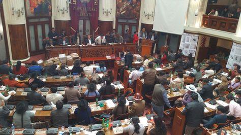 Sesión legislativa en la que se eligió a los candidatos judiciales