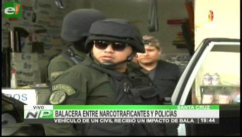 Balacera entre policías y supuestos narcos en avenida Paraguá de Santa Cruz