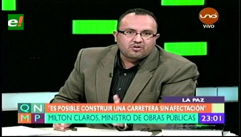 Ministro Claros: Esperemos que Quiroga pida disculpas por declaraciones