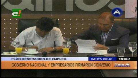 Proyectan aliviar desempleo y Evo pide apoyo a privados