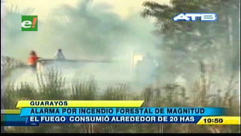 Incendio forestal amenaza propiedades ganaderas en Ascensión de Guarayos