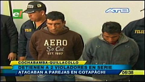Detienen a dos violadores en serie que operaban en Quillacollo