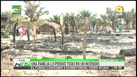 Familia lo perdió todo en un incendio en la comunidad la Brecha 2