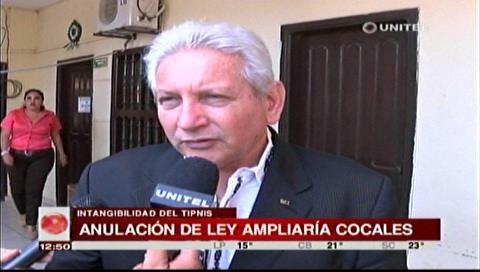 Costas: La abrogación de la ley 180 ampliará los cocales hacia el TIPNIS