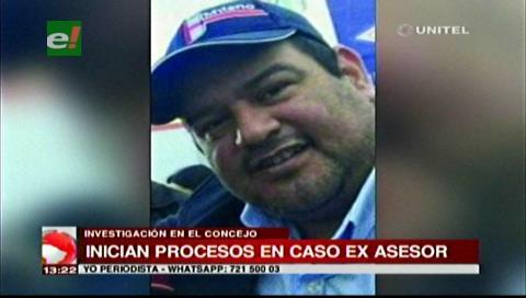 Concejo Municipal cruceño inició dos procesos contra el exasesor del MAS Romer Gutiérrez