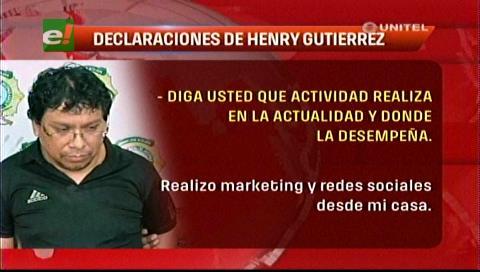 Declaración ante la Policía de Henry Gutiérrez, administrador de Cachinoticias