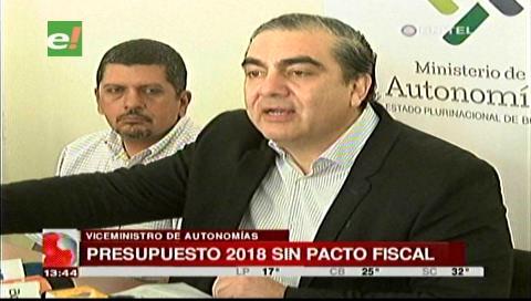 Gobierno descarta que Pacto Fiscal se incluya en el presupuesto del 2018