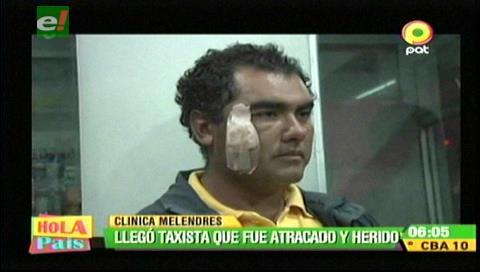 Taxista baleado en Mairana clama justicia