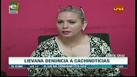 María Renée Liévana denunció al administrador de Cachinoticias por dañar su imagen